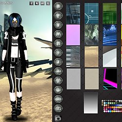Cyberpunk fashion dress up game